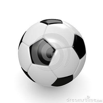 3d rendered soccer ball  on white background