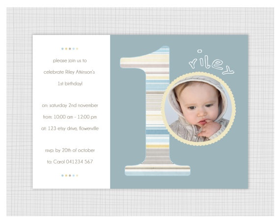 Photo Birthday Invitations Boys 1st birthday: Children Birthday, Photo Birthday Invitations, Birthday Parties, Birthday Boys, Invitations Boys, Baptisms 1St Birthday, Boys 1St Birthdays, Baptism1St Birthday, Birthday Ideas