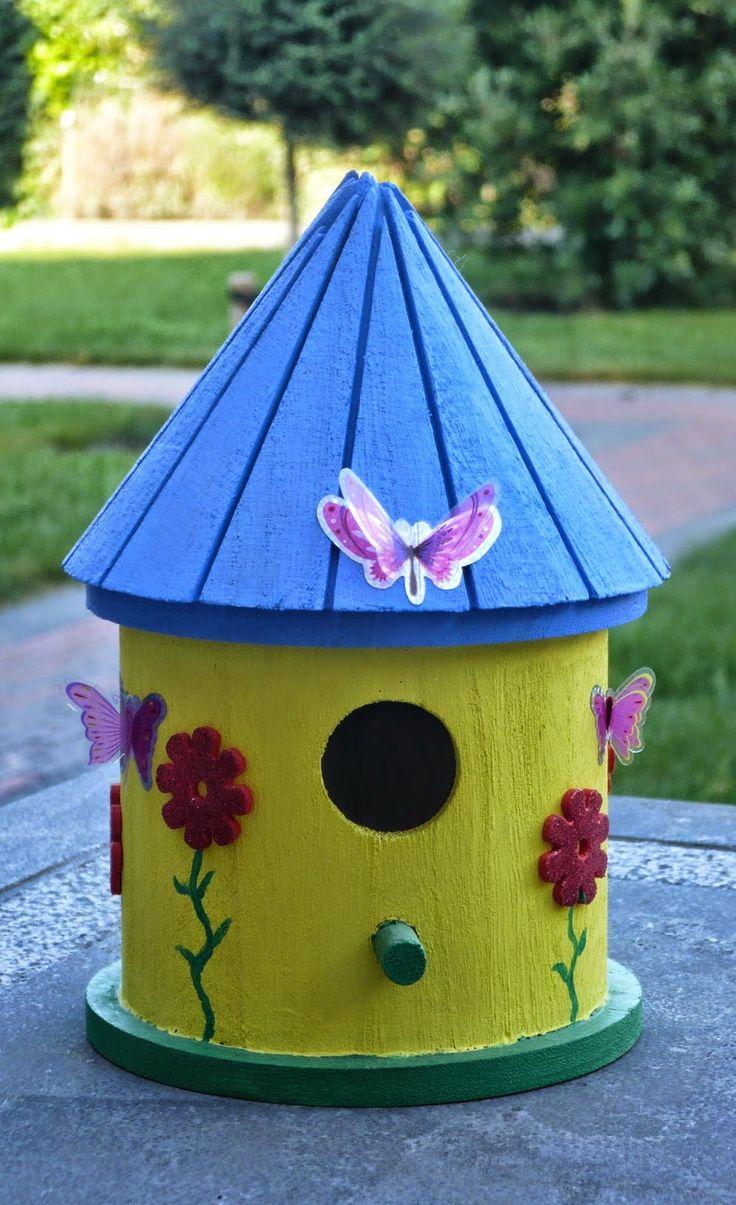 RedIbisGifts: Vogelhuisje decoreren-Birdhouse decorate