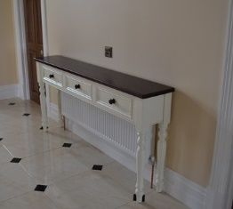 Console Table Over Radiator In Hall