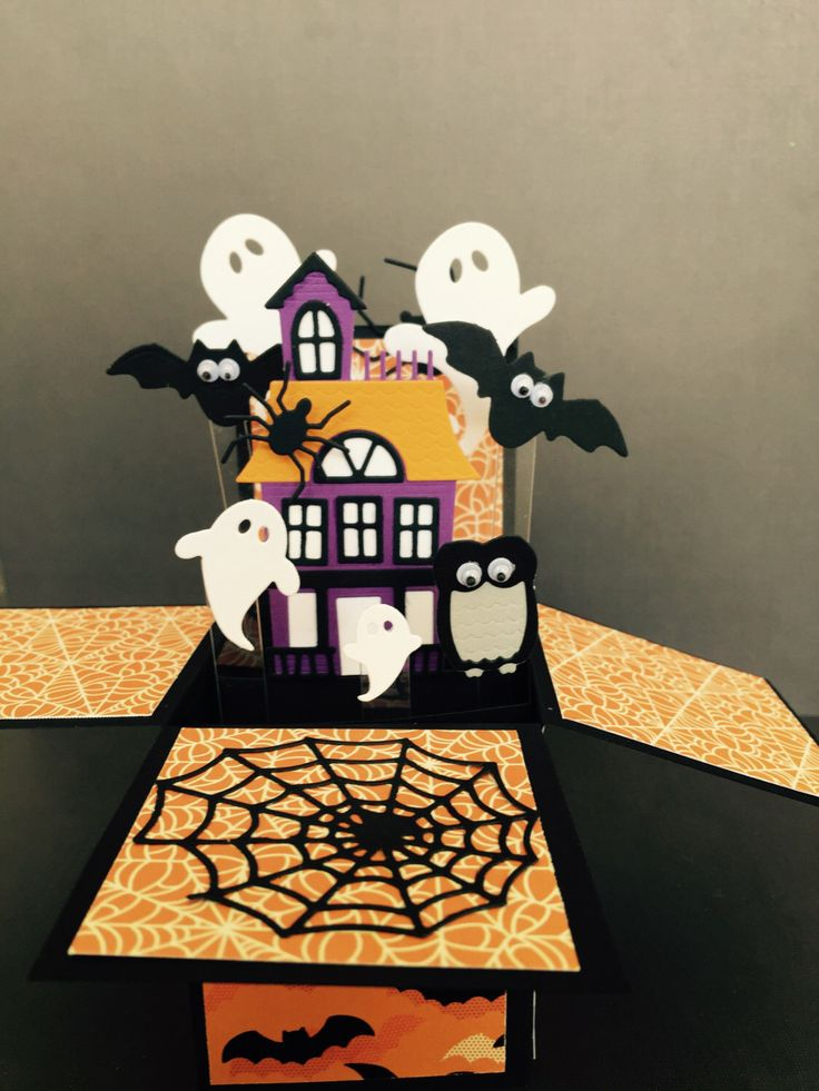 A personal favorite from my Etsy shop https://www.etsy.com/listing/472759875/halloween-pop-up-card-gouly-pop-up-box