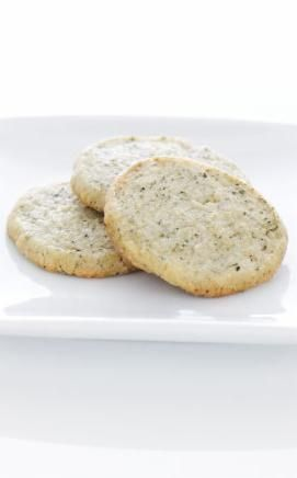 What goes better with tea than Green Tea Cookies? Delicate and delicious, these cookies are vibrantly colored due to the addition of Japanese matcha tea.