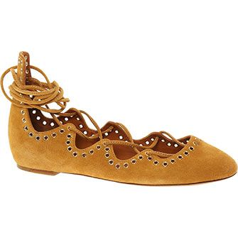 Isabel Marant Sand Brown Suede Ghillie Shoes