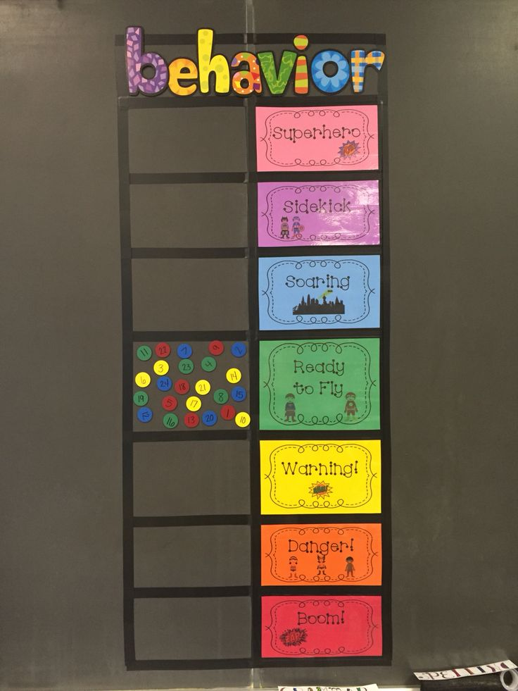 Pbis- behavior 'clip chart' using magnets instead of clips superhero themed