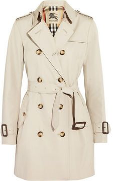 Burberry London Mid-length gabardine trench coat on shopstyle.com