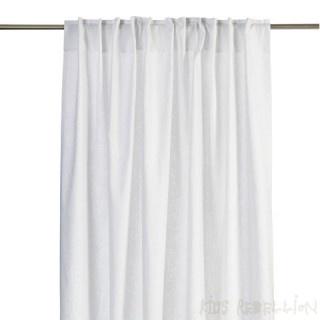 Witte linnen gordijnen voor een rustig en zachte sfeer...