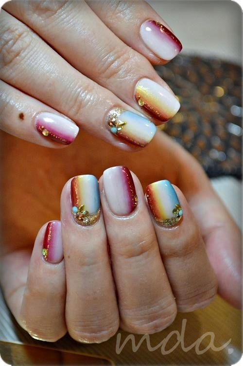 This looks great for fall, but if I attempted to ever do this, it would most likely be a disaster considering my hands aren't the most steady...