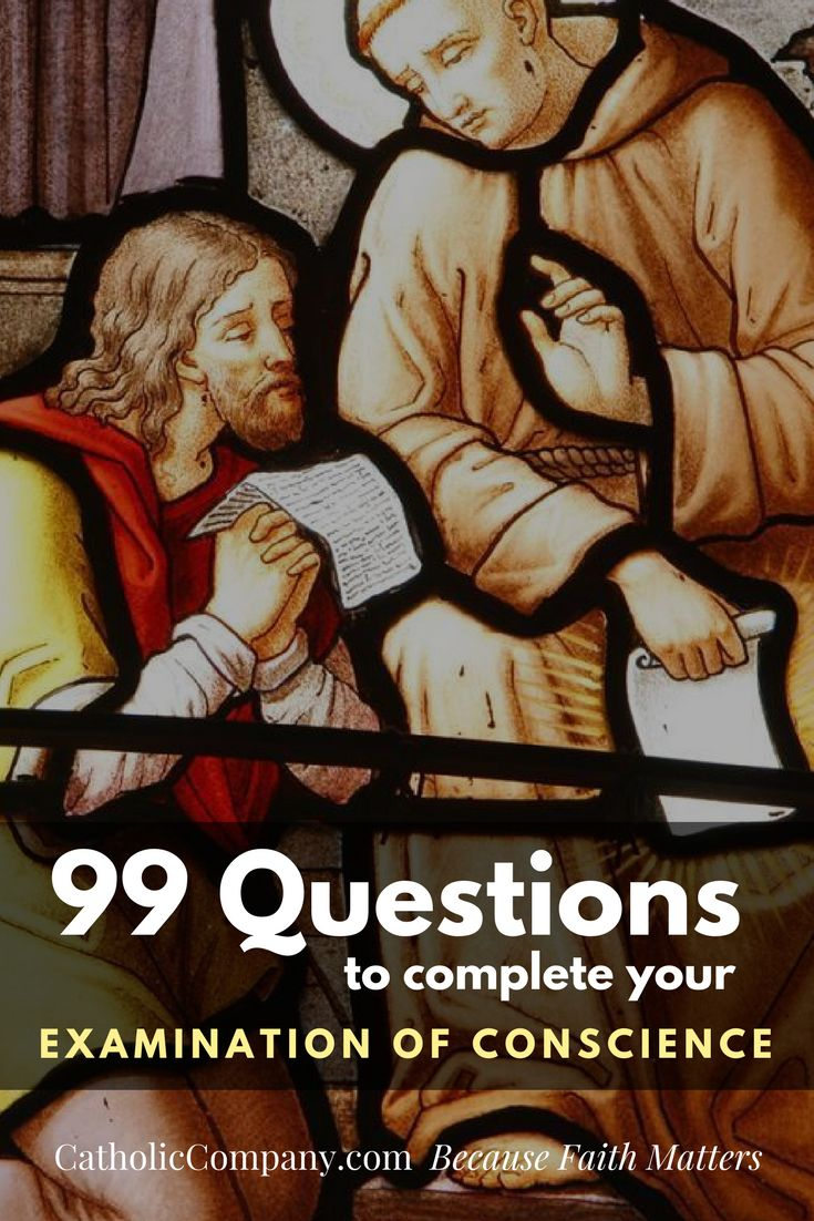 99 Questions to Complete Your Examination of Conscience | Get Fed | A Catholic B... 1