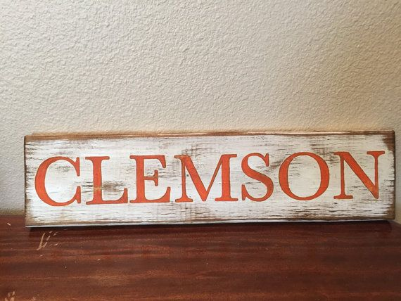 Clemson Football decor by SouthernPineappleCH on Etsy