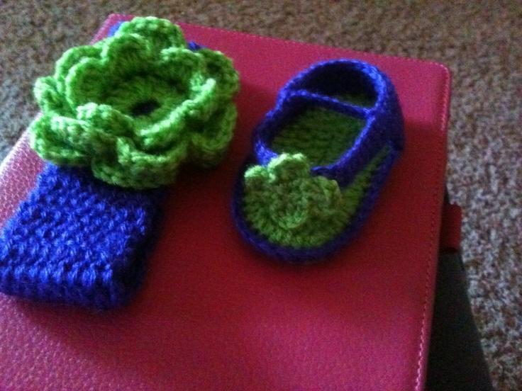 Baby headband and flipflops Crochet!! Pinterest ...