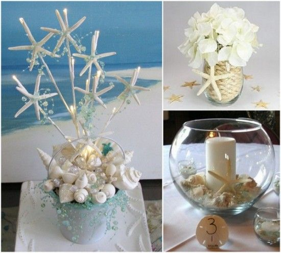 Starfish Themed Beach Wedding Centerpiece http://www.yourweddingcompany.com/index.php/action/purchase/productId/95/categoryId/154/