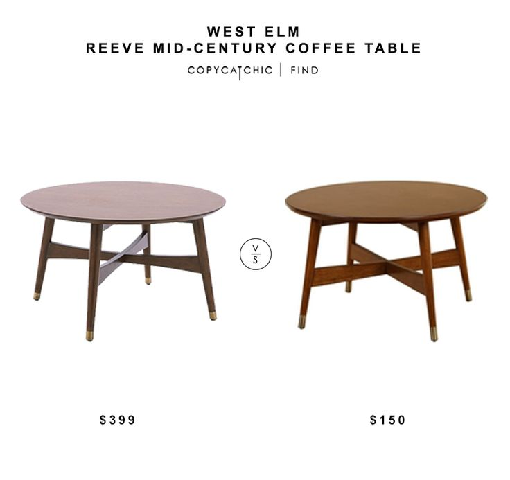 West Elm Reeve Mid Century Coffee Table 399 Vs Overstock Allen Round Coffee Table 150 Round