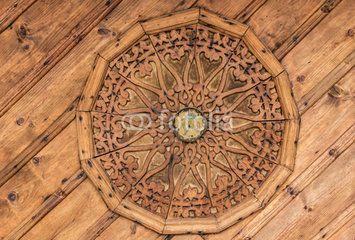 tarihi ahşap tavan işçiliği