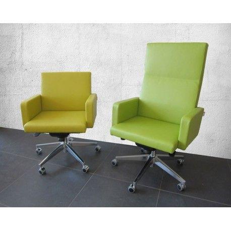 Relax fauteuil dat in hoogte verstelbaar is. Door het kantelsysteem in de zitting is de Egersund ideaal geschikt als conferentie fauteuil of aan een luxe eettafel. Dit is een luxe fauteuil met een draaifunctie en wieltjes waardoor de Egersund eenvoudig in gebruik is.  De Egersund is leverbaar twee uitvoeringen: met een hoge of lage rug.