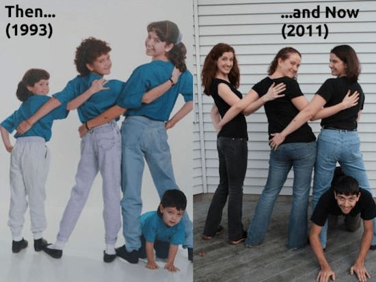 Siblings then and now  Check Out These Hilariously Recreated Childhood Photos • Page 6 of 6 • BoredBug