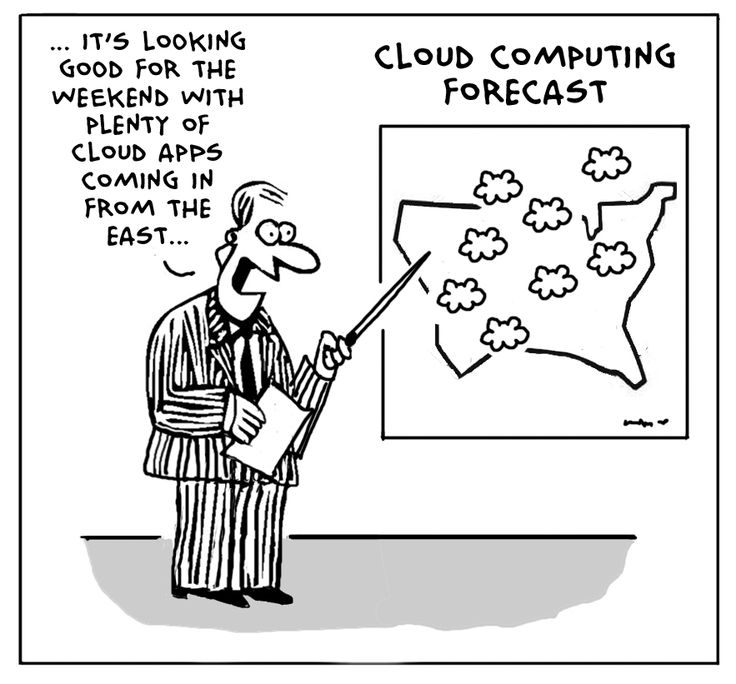 Cute little cloud computing joke. Cloud applications don't only come ...