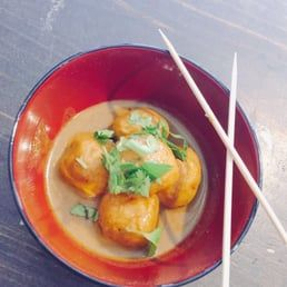 Photo of New Banh Mi - Chicago, IL, United States. Curry fish ball. Spicy or not spicy option