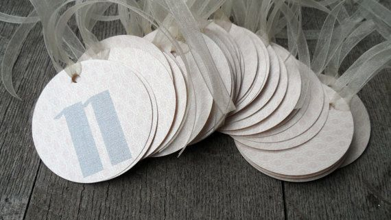 Set of 40 Front and Back Favor Tags for Wedding Guest Ladies Flip Flop Gift Blush Pink Silver Ivory