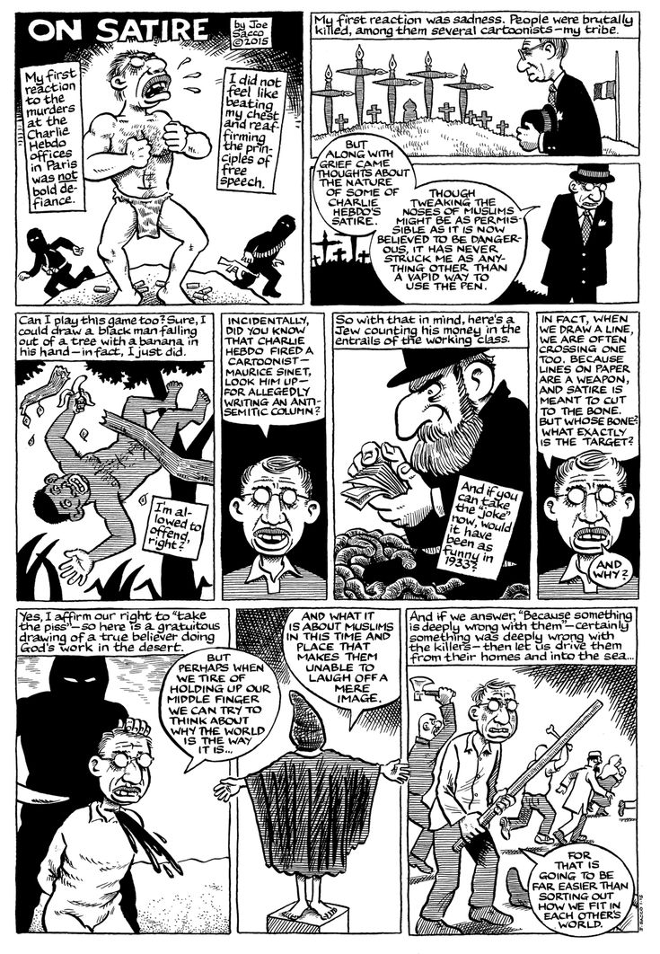 Joe Sacco caught the frustration and the madness of #JeSuisCharlie