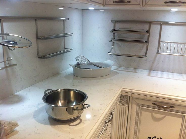Cashmere Carrara Quartz Countertop Kitchen Pinterest
