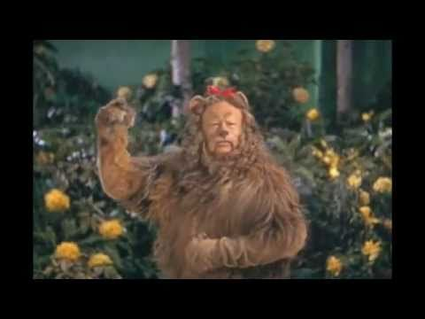THE WIZARD OF OZ ~ If I Were King of the Forest ~ Bert Lahr (The Cowardly Lion), with Judy Garland (Dorothy) Jack Haley (The Tin Man), and Ray Bolger (The Scarecrow). (3:39) [Video