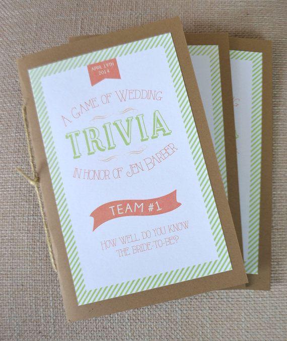 Bride And Groom Trivia: Best 25+ Wedding Trivia Ideas On Pinterest