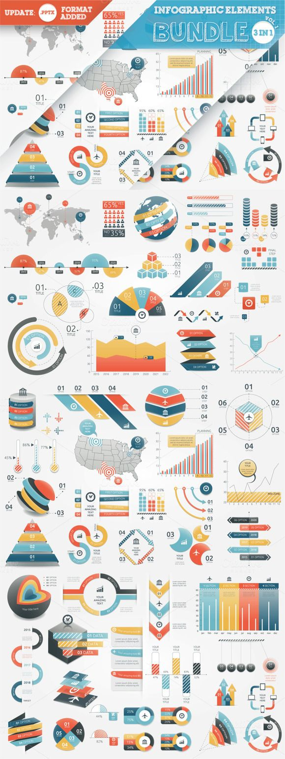 40% OFF Infographic Elements Bundle by Infographic Paradise on @creativemarket
