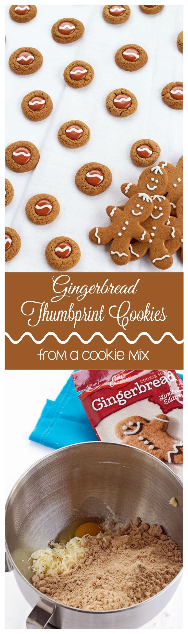 Gingerbread Thumbprint Cookies from a Cookie Mix | The Bearfoot Baker