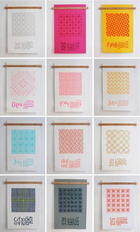 So beautiful - linda & harriett 2013 quilt calendar | Design*Sponge