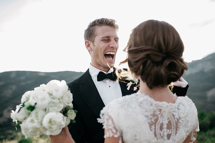 Love the shot over her shoulder but his reaction looks like he's going to bite her face