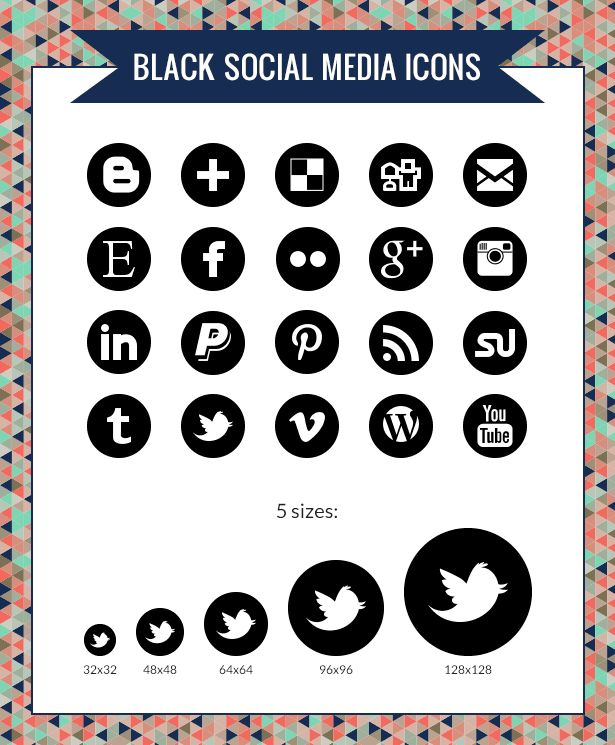 Free social media icons and CSS for a hover effect
