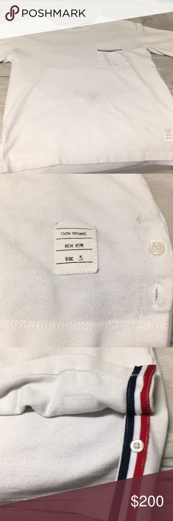 Thom Browne T-Shirt Top tier designer T-Shirt with an original price of $350 commonly worn in Europe or Asia Thom Browne Shirts Tees - Short Sleeve