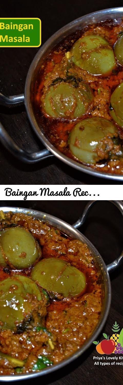 Baingan Masala Recipe (बैगन मसाला) | Bharwan Baingan Masala | Eggplant Curry Recipe... Tags: Brinjal Masala Curry