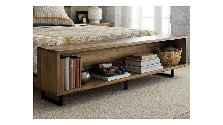 Atwood Bed with Bookcase | Crate and Barrel