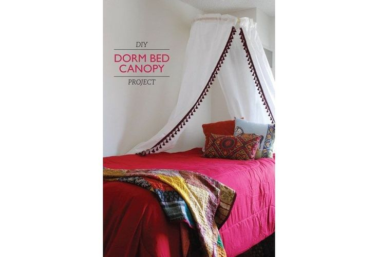 The Dorm Room Canopy Bed #LuxuryBeddingApartmentTherapy