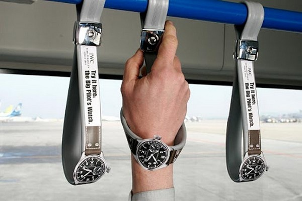 Great use of bus advertising.: I Observed That The Campaigns, Creative Noticed, Idea, Street Marketing, Bus, Ads Campaigns, Wrist Watches, Funny Commercial, Guerrilla Marketing