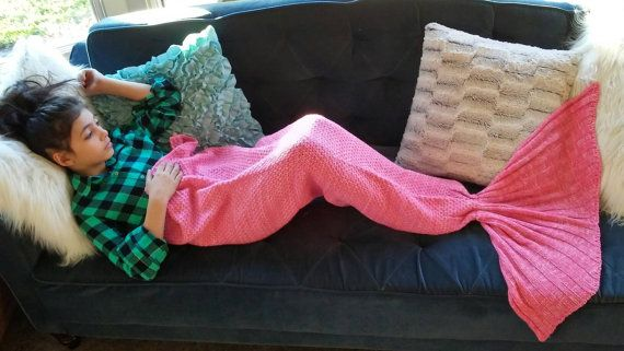 Check out this item in my Etsy shop https://www.etsy.com/listing/494077215/pink-mermaid-blanket-child-mermaid
