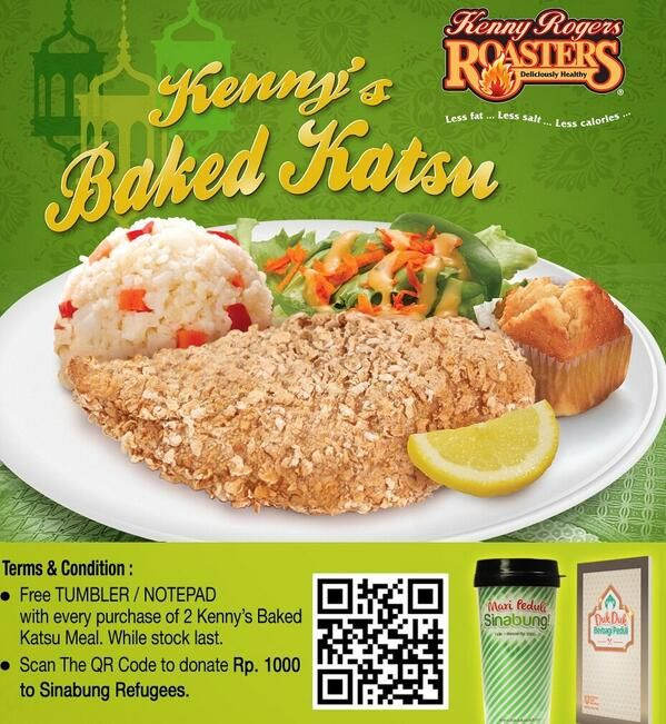 Kenny Rogers Roasters: Buy 2 Baked Katsu Free Tumbler / Notepad @kennyrogersid