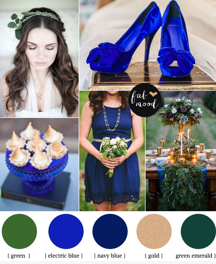 Electric blue and green wedding | http://www.fabmood.com/electric-blue-and-green-wedding/