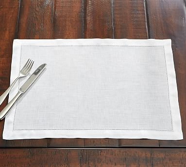 PB Classic Placemat, Set of 4 - White