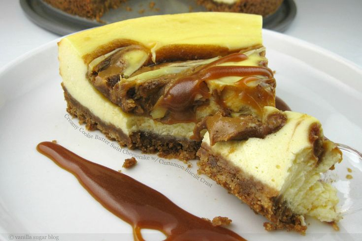 Creamy Cookie Butter Swirl Cheesecake with Cinnamon Biscuit Crust: Fun Recipes, Cookies Butter, Cinnamon Biscuits, Crusts I, Swirls Cheesecake, Biscuits Crusts, Cinnamon Crusts, Creamy Cookies, Butter Swirls