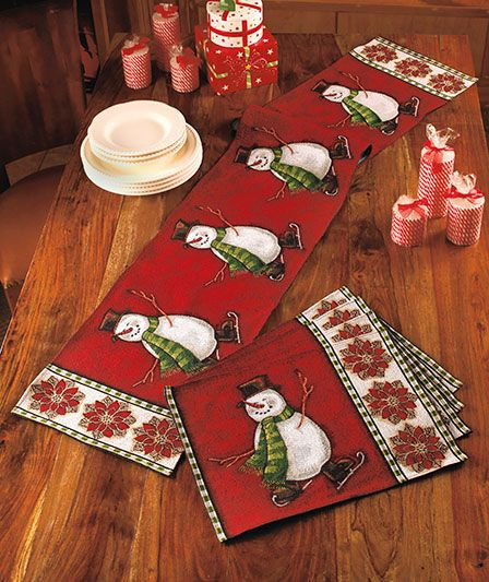 Holiday Tapestry Placemats or Runners | The Lakeside Collection