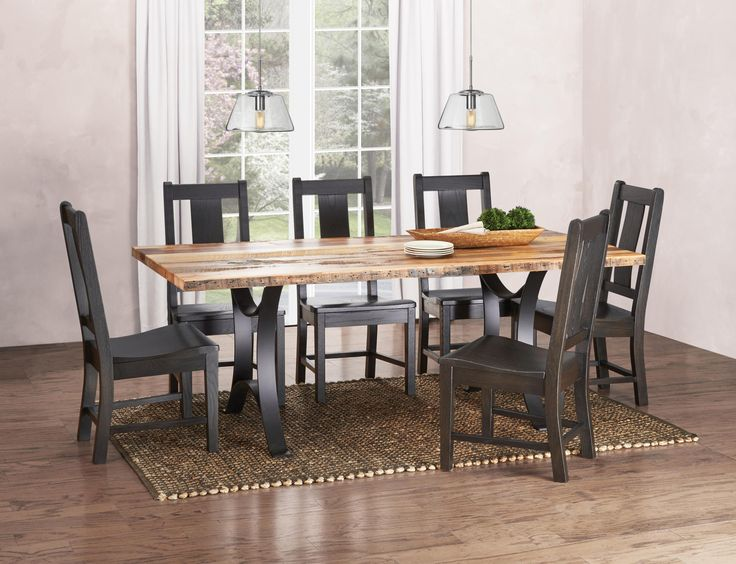 Reclaimed barn wood from michigan left in it 39 s natural for S bent dining room furniture