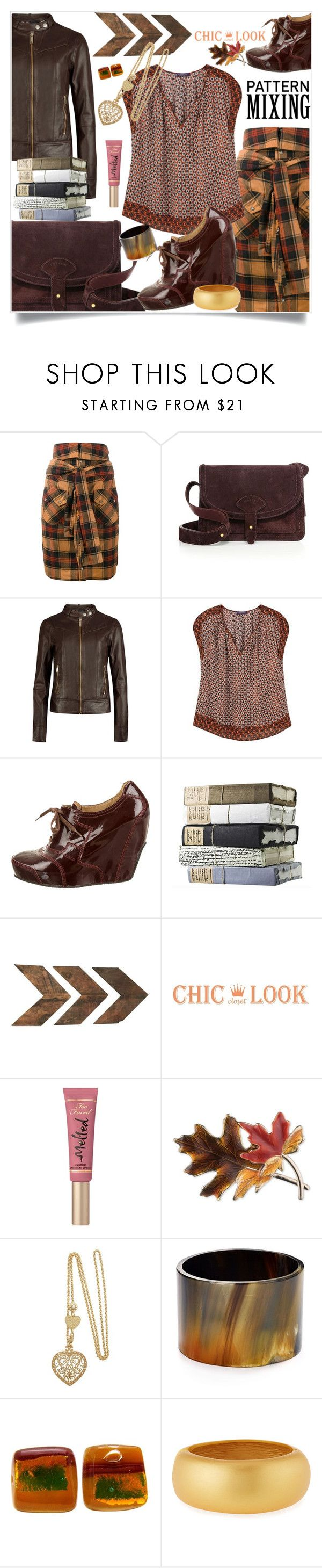 """Weekend"" by hani-bgd ❤ liked on Polyvore featuring Faith Connexion, Maiyet, Ted Baker, Violeta by Mango, Dries Van Noten, WALL, Too Faced Cosmetics, Anne Klein, Robert Lee Morris and Kenneth Jay Lane"