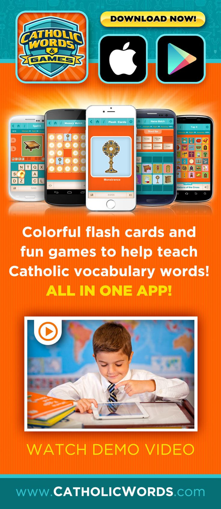 A fun app to teach Catholic