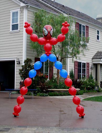 Spider-Man balloon arch