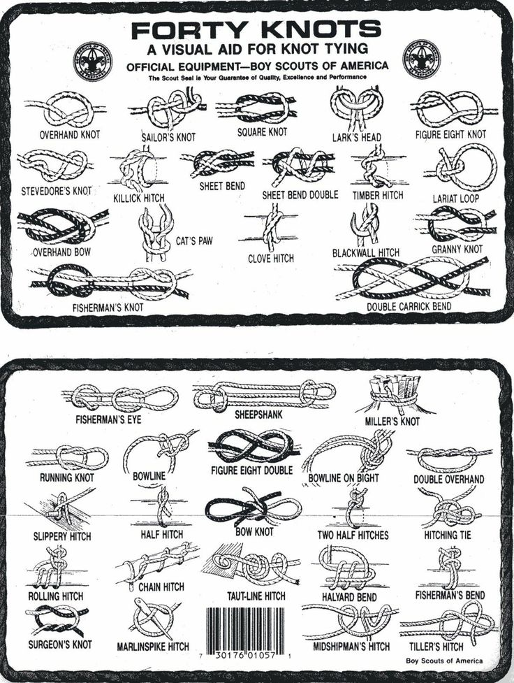 boy scout knots diagram