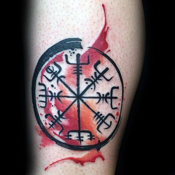 91aeca48933f2 70 Viking Compass Tattoo Designs For Men - Vegvísir Ink Ideas ...