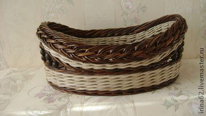 ПОДНОС - плетение,плетение из газет,подносы,корзина плетеная,корзина,бумага