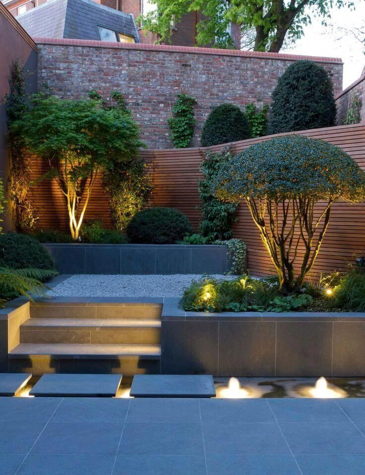 28 Round Firepit Area Ideas To Enjoy Summer Nights Outside Modern Landscape Lighting Small Backyard Landscaping Landscape Lighting Design